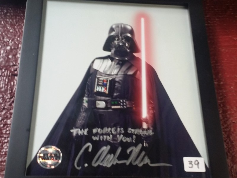 SIGNED DARTH VADER PICTURE